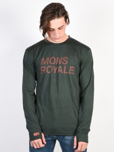 MONS ROYALE triko ORIGINAL ITALLICA forest green