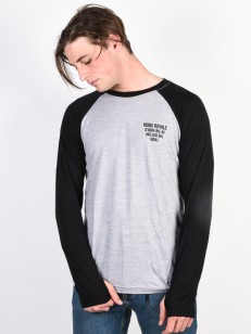 MONS ROYALE triko CORESHOT RAGLAN black/grey marl