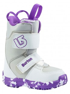 BURTON boty MINI - GROM WHITE/PURPLE