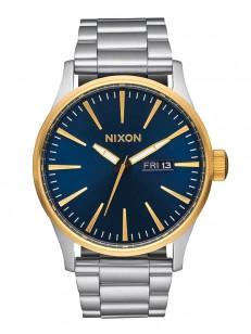 NIXON hodinky SENTRY CHRONO GOLDBLUESUNRAY