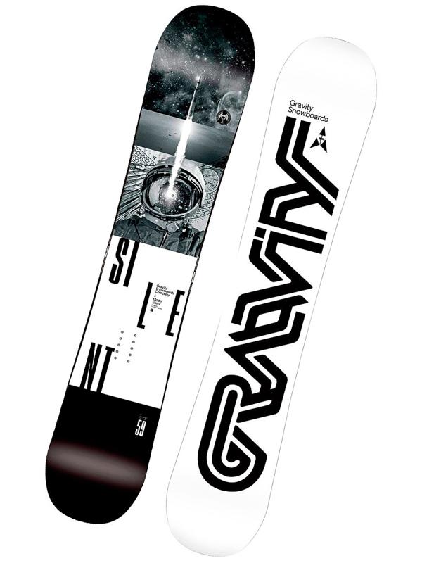 Gravity Snowboard Silent Blk - 156 černá