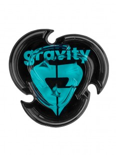 GRAVITY stompad HEART MAT BLACK