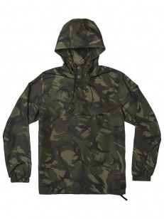 RVCA bunda PACKAWAY WOODLAND CAMO