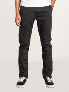 RVCA kalhoty DAGGERS CHINO PIRATE BLACK