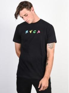 RVCA tričko CRYPT PARTY BLACK