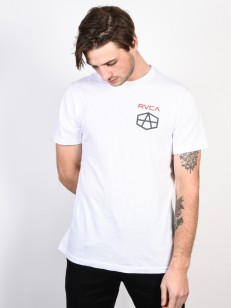RVCA triko REYNOLDS HEX WHITE
