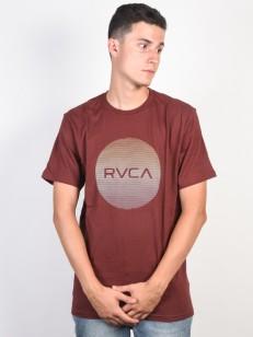 RVCA tričko MOTORS STANDARD BORDEAUX