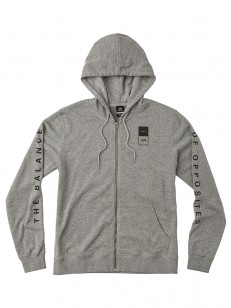 RVCA mikina VA GUARD HEATHER GREY