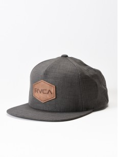 RVCA kšiltovka COMMONWEALTH DELUXE CHARCOAL HEATHE