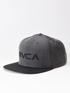 RVCA kšiltovka TWILL III CHARCOAL HEATHER