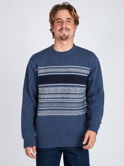 BILLABONG svetr MAYFIELD DENIM BLUE