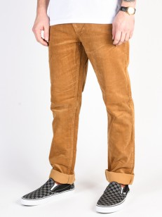 ELEMENT kalhoty E03 CORDUROY GOLD BROWN