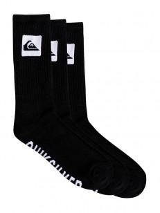 QUIKSILVER ponožky 3 CREW PACK BLACK
