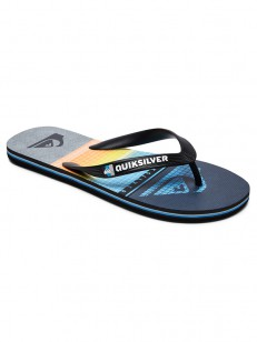 QUIKSILVER žabky MOLOKAI HIGHLINES BLACK/GREY/BLUE