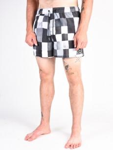 QUIKSILVER koupací šortky RESIN CHECKVOLL BLACK