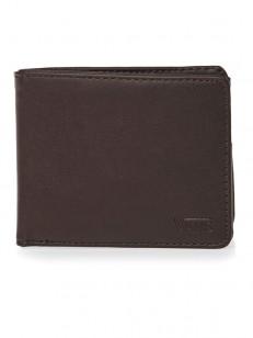 VANS peněženka DROP V BIFOLD DARK BROWN