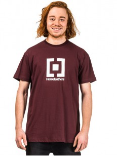 HORSEFEATHERS triko BASE burgundy