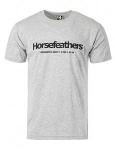 HORSEFEATHERS triko QUARTER ash