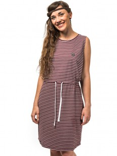 HORSEFEATHERS šaty ANITA burgundy stripes