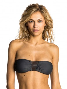 RIP CURL plavky ILLUSION BANDEAU DARK GREY