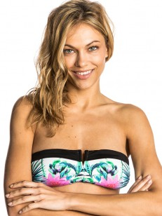 RIP CURL plavky PALMS AWAY BANDEAU GREEN