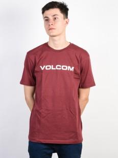 VOLCOM tričko CRISP EURO Crimson