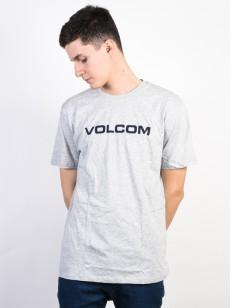 VOLCOM tričko CRISP EURO Heather Grey