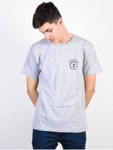 ELECTRIC triko CIRCLE BOLT HEATHER GREY