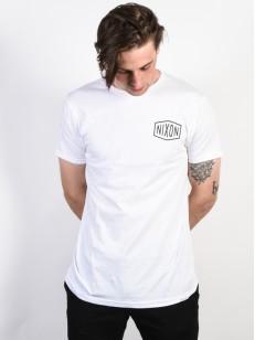 NIXON triko INDUSTRY WHITE