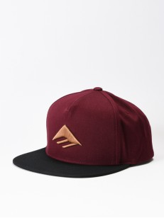 EMERICA šiltovka TRIANGLE SNAPBACK OXBLOOD