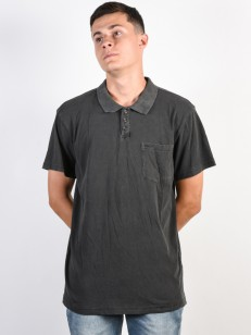 RVCA triko PTC PIGMENT POLO PIRATE BLACK