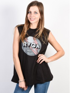 RVCA tílko VOLT BOXY PIRATE BLACK
