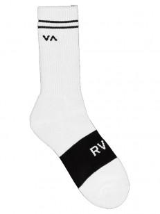 RVCA ponožky BASIC BLOCK WHITE