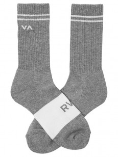 RVCA ponožky BASIC BLOCK HEATHER GREY