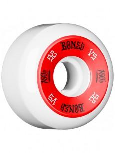 BONES kolečka 100 FORMULA V5 WHITE/RED