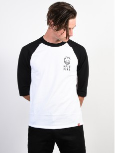 SPITFIRE triko STEADY ROCKIN WHITE/BLACK/BLACK