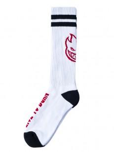 SPITFIRE ponožky HEADS UP WHT/BLK/RED