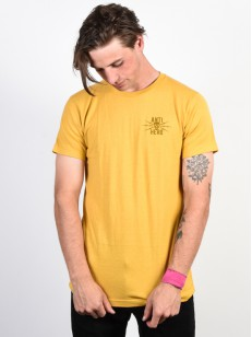 ANTIHERO triko STAY AWAY MUSTARD/BROWN