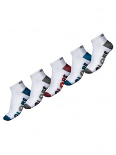 GLOBE ponožky MULTI STRIPE ANKLE 5 PACK White