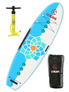 LOKAHI paddleboard W.E.ENJOY YOGA White/Blue