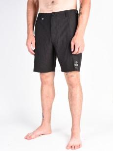 PICTURE koupací šortky DETROIT 19 BLACK LEAF