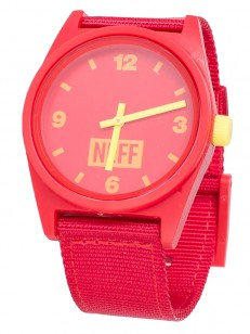 NEFF hodinky DAILY RED/YELLOW/WOVEN