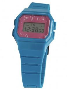 NEFF hodinky FLAVA CYAN/PINK/SPECKLE