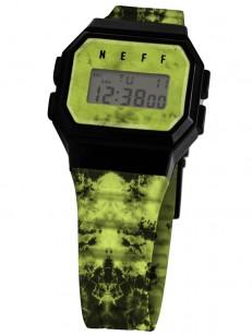 NEFF hodinky FLAVA WILD GREEN WASH/BLACK