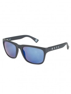 NEFF sluneční brýle CHIP MATT BLACK/BLUE MIRROR