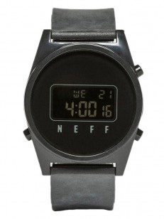 NEFF hodinky DAILY DIGITAL BLACK WASH/BLACK