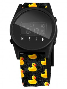 NEFF hodinky DAILY DIGITAL DUCKY WASH/BLACK