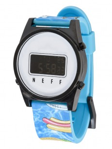NEFF hodinky DAILY DIGITAL POOL PARTY/BLACK/WHI