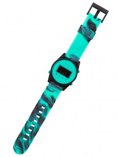 NEFF hodinky DAILY DIGITAL TEAL WASH/BLACK/TEAL
