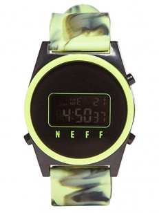 NEFF hodinky DAILY DIGITAL GREEN WASH/BLACK/SLI